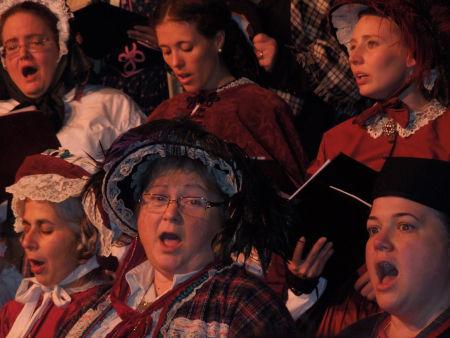 woman and choir 001