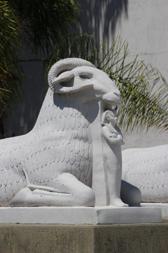 museum ram statue