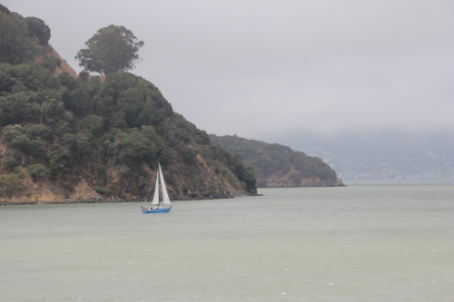 angel island and sailboat