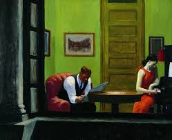 Room in New York, Hopper, 1932