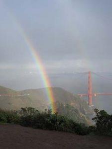 Rainbow with Golden Gate Bridge in Background