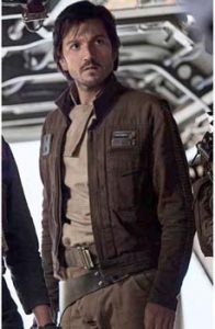 """I really am ruggedly handsome!"" Oh, wait, different series. Diego Luna as Captain Cassian Andor."