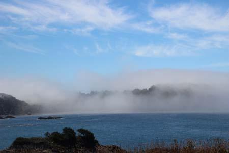 Ocean and incoming fog
