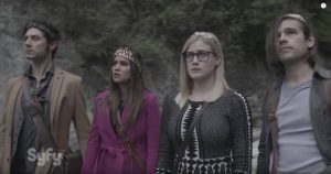 Eliot, Margo, Alice and Quentin, crowned