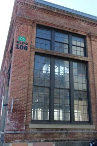 Exterior, building 106.