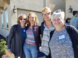 (L to R) Jo, Tara, Kate and Care. Not shown, Linda, Carol and me