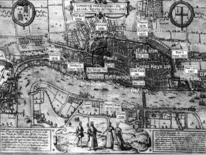 London playhouses during Elizabeth's reign.
