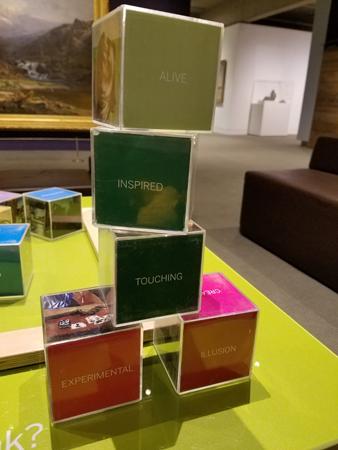 Interactive exhibit in the Creativity Gallery