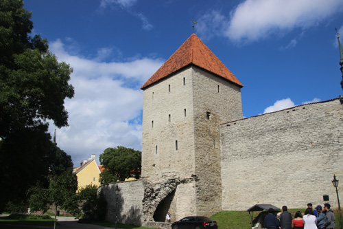 City walls and a watchtower.