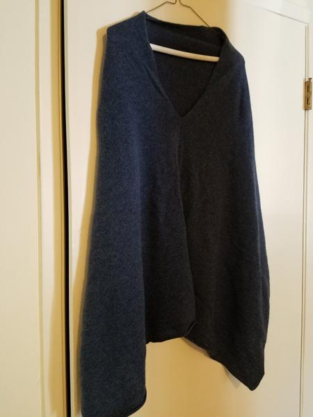 Lightweight cashmere poncho.