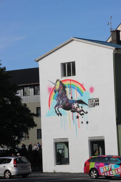 Rainbows, unicorns and a matching car.