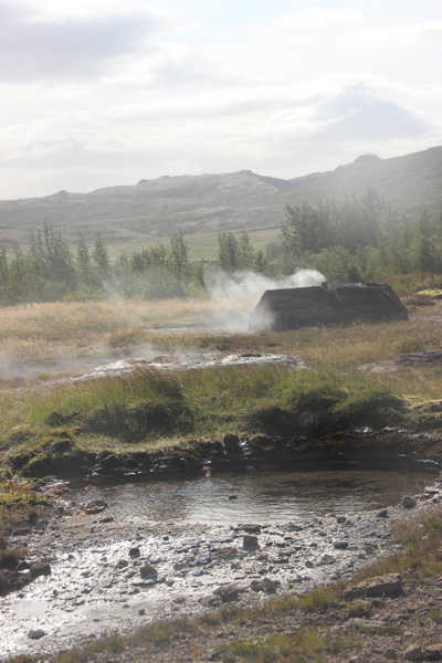 Steam vents at Geysir