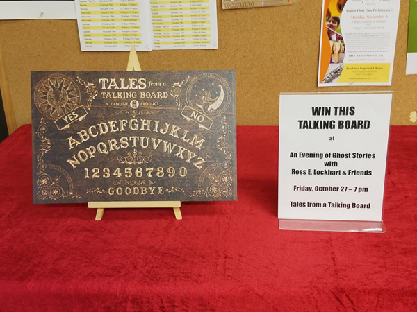 One lucky contestant won this handsome talking board. Proceeds went to help fire victims.