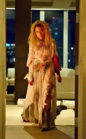 Helena. Yes, that is a bloodstained wedding gown.