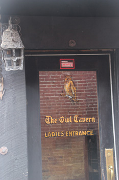 "The ""Ladies Entrance"" of the Owl Tavern was both discreet and discrete."