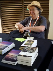 Marta Randall at HawaiiCon, where we almost all met up.