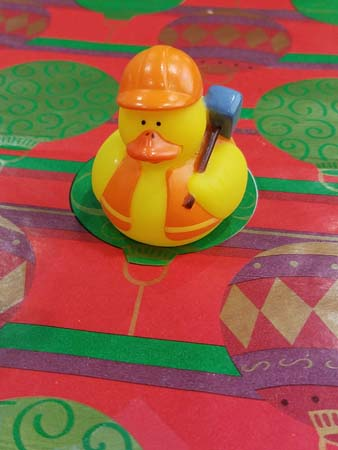 A working class bath duck.