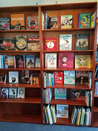 This was part of the Children's Section on Saturday. Lots of nice picture books!