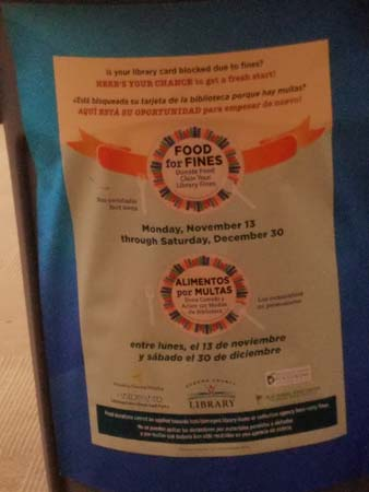 Food for Fines, an amnesty program.