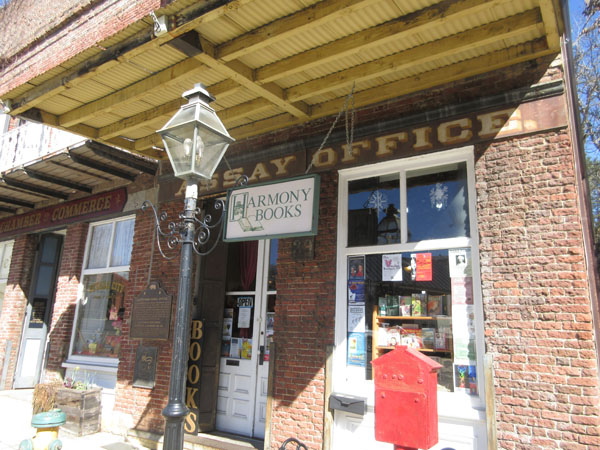 Nevada City Assay Office, home of Harmony Books