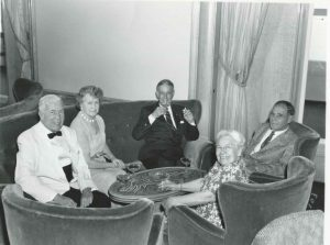 Much later in her life, Ella (front right) on a Holland America cruise ship.