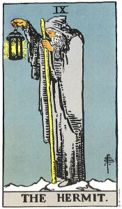 The Hermit from the Rider Waite Deck