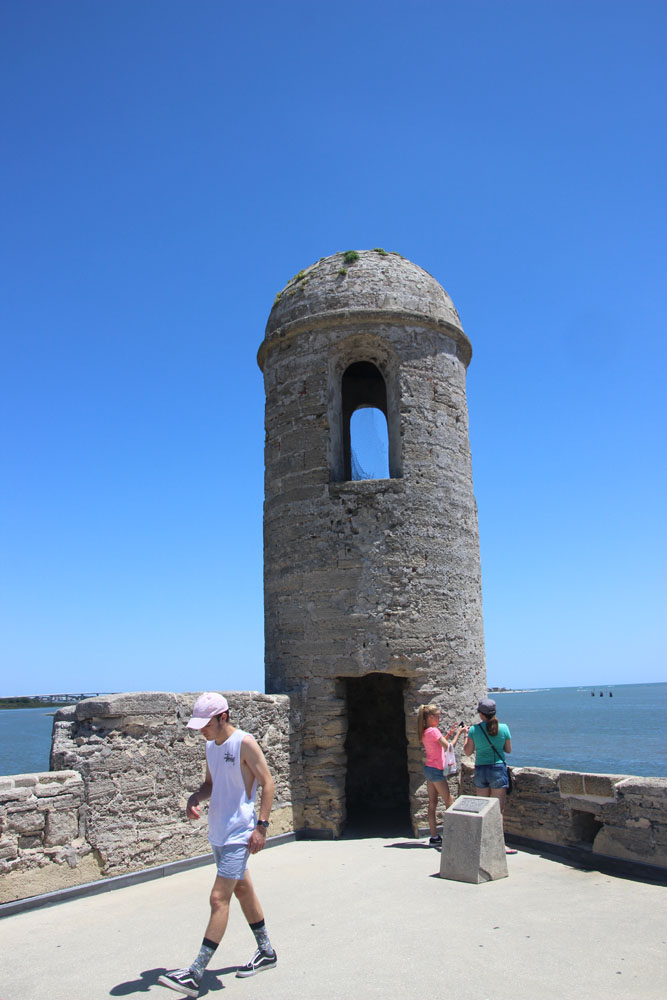 The stone bastions were used for signalling.