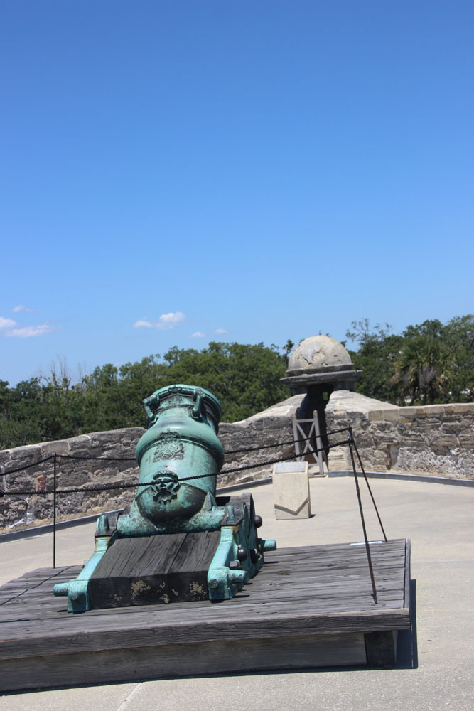 Cannon facing the northwest bastion which is three inches shorter than the others.