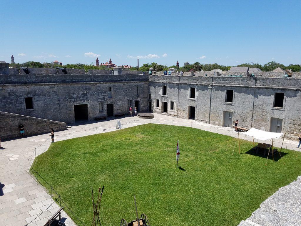 Interior of Castillo de San Marcos