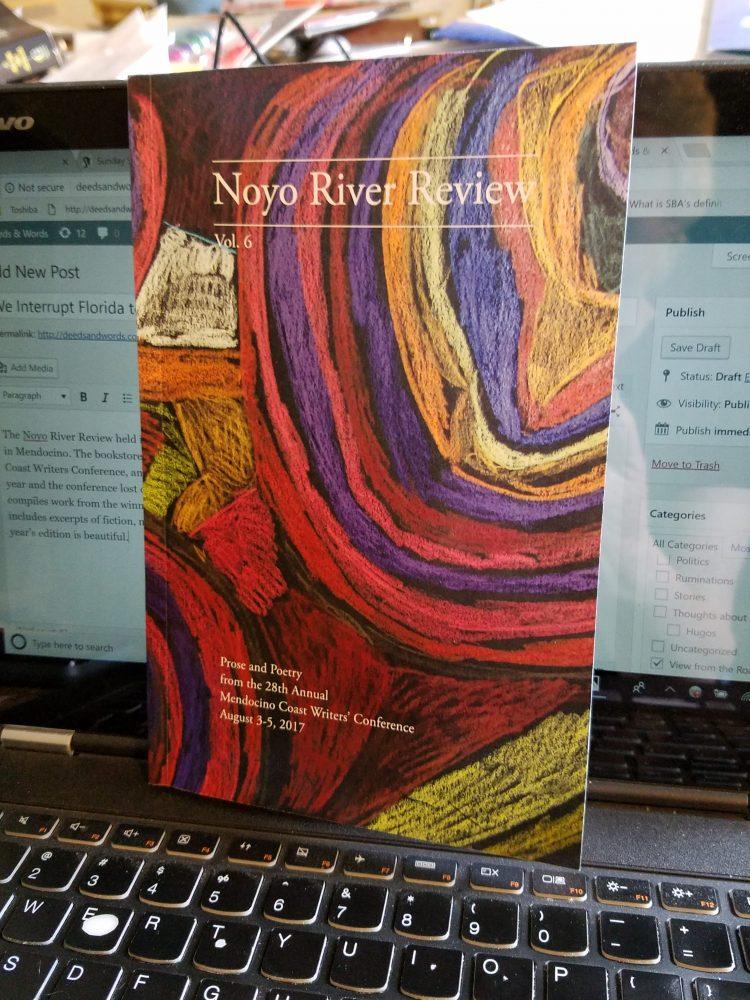 2018 Noyo River Review. Hey! I'm in the Table of Contents!