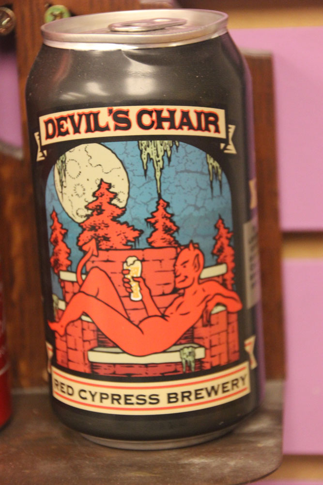 The Devil's Chair is just a brick chair in a local cemetery, but anything for a beer, right?