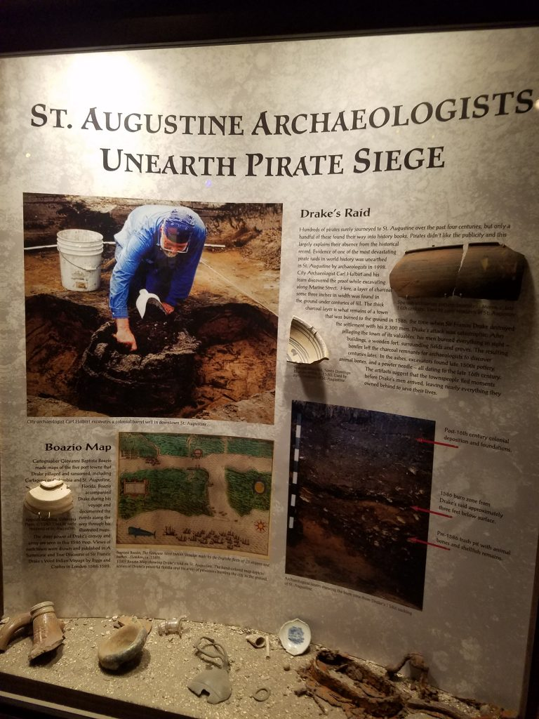 Diorama displaying archaeological discoveries.