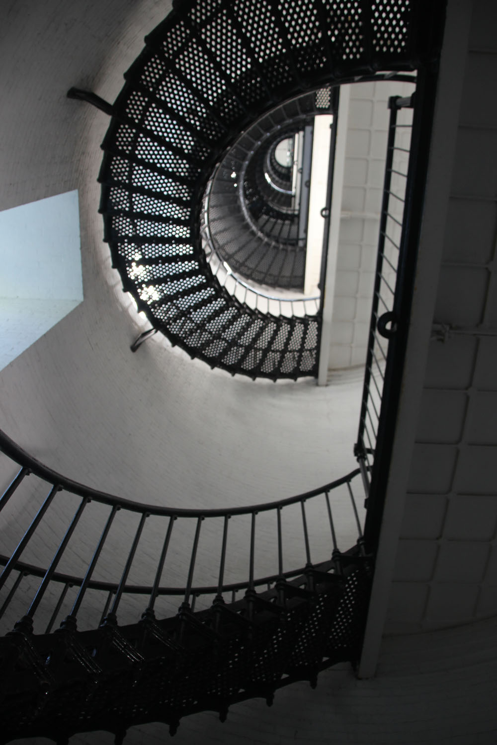 Spiral staircase -- only the first of 219 steps.
