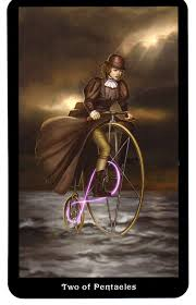 Two of Pentacles from the Steampunk Deck