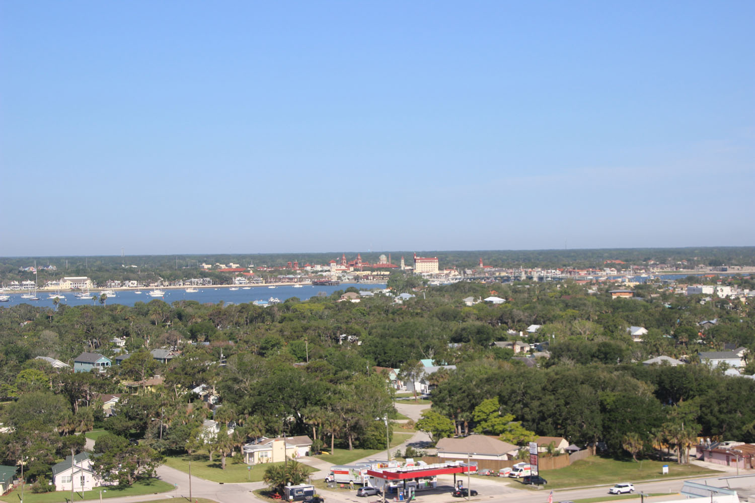 Looking west to St Augustine.
