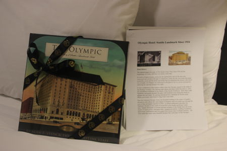 The book gives the history of the hotel... the handouts were free!