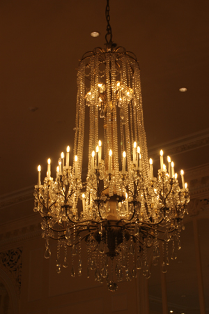 Just one of the crystal chandeliers.