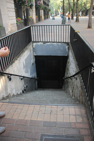 A set of stairs to the underground.