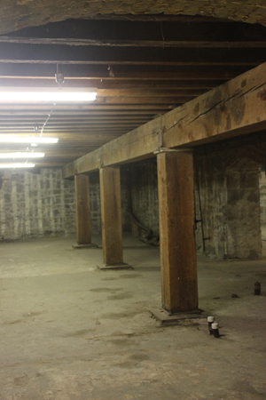 "This image is the old ""first floor"" of the building above..."