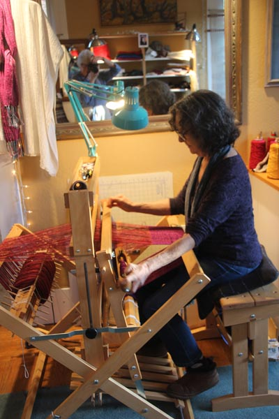Abby said that what got her into weaving was her love of color.