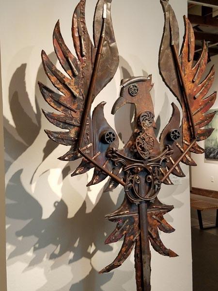 Sascha Cory's found-object phoenix